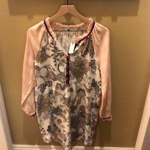 NWT Anthropologie Floret Pjs Sz Medium